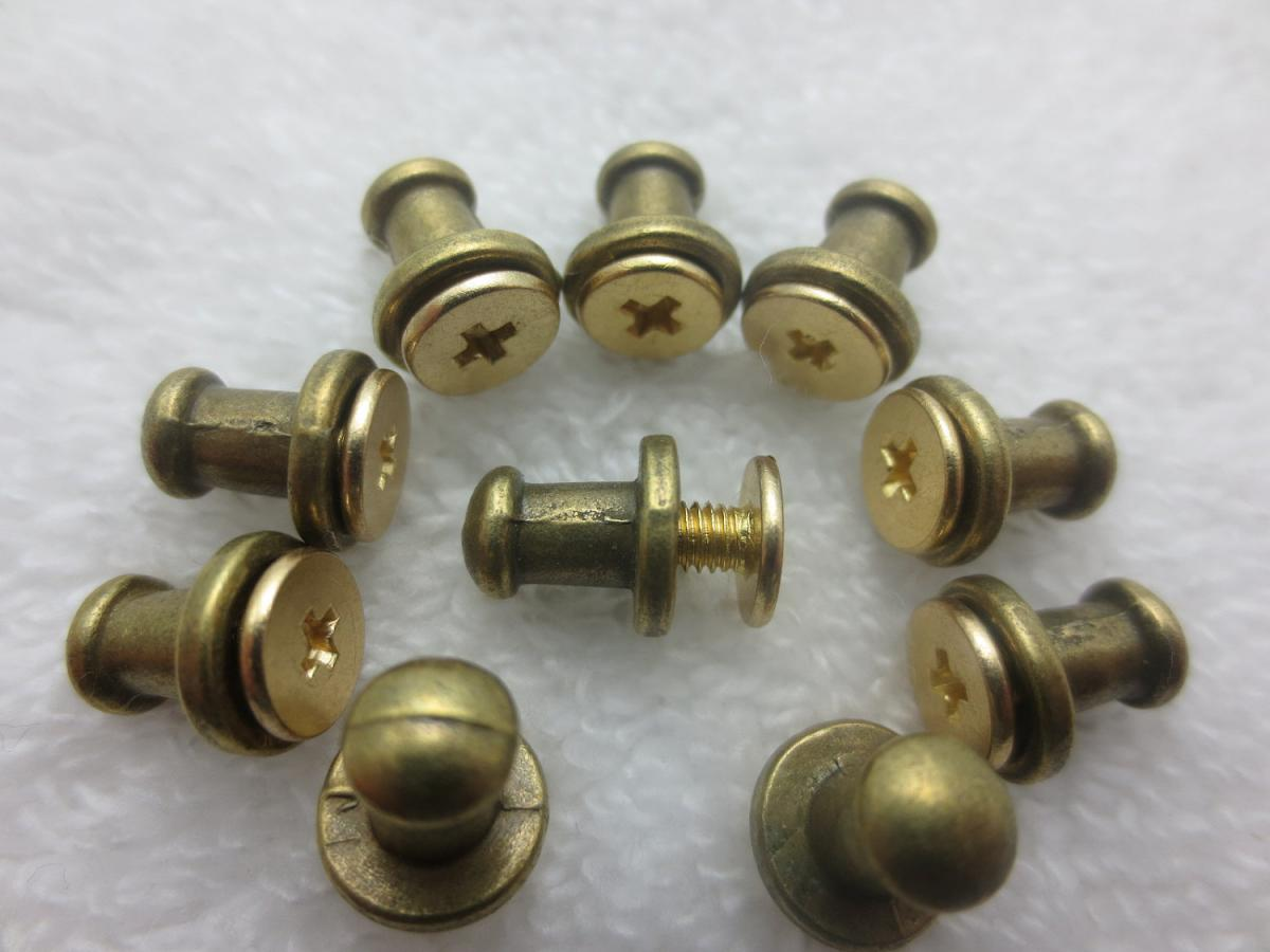 screw itm uk leather cf nail solid brass stud back rivet button arc