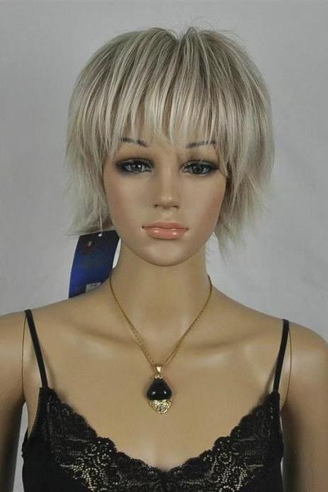 pale short women wigs synthetic wig GZ#002