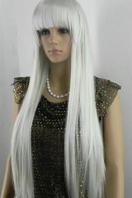white long women wigs synthetic wig GZ#00010 abc fashioin girls clothing abc