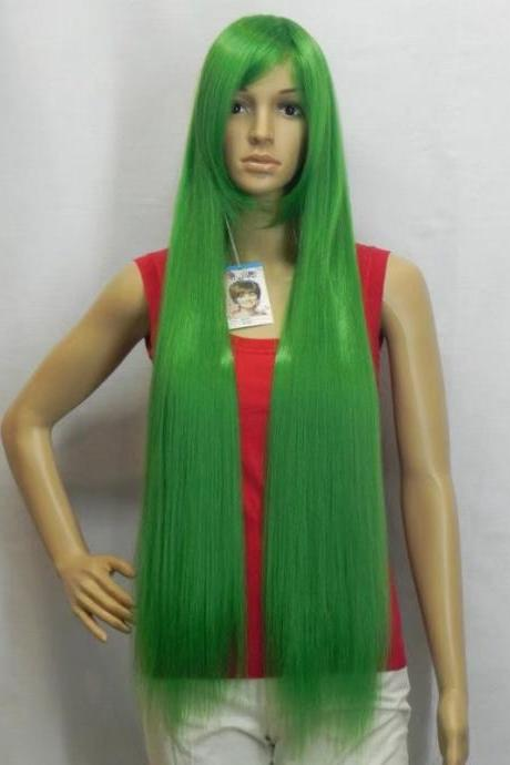 green long women wigs synthetic wig GZ#012061 fashioin girls clothing abc